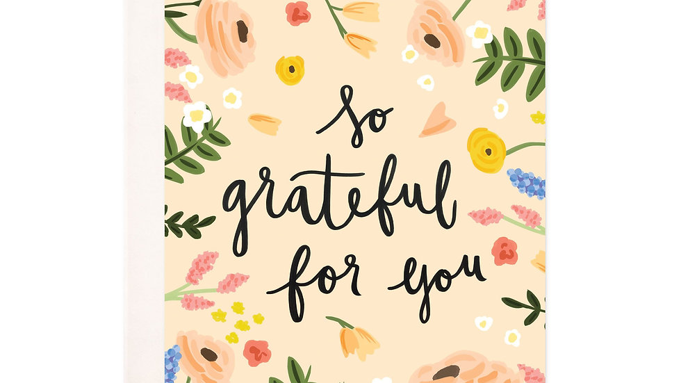 So Grateful  Greeting Card