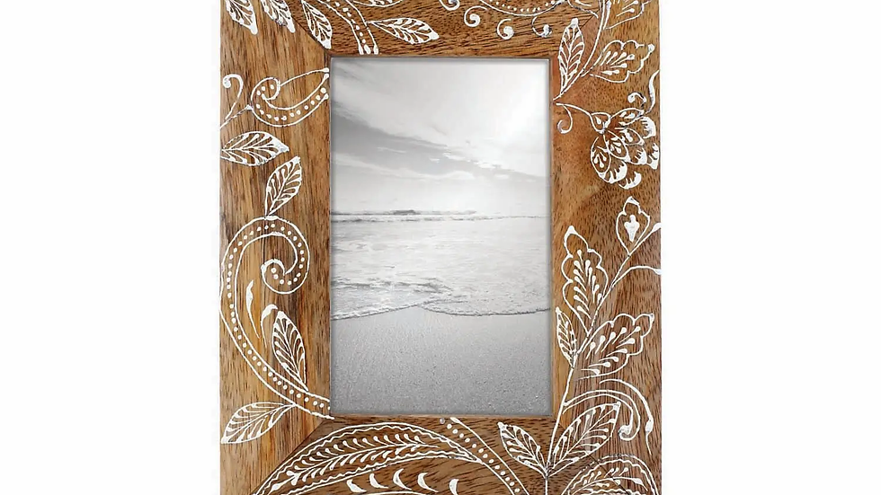 4'' x 6'' Floral Henna Photo Frame