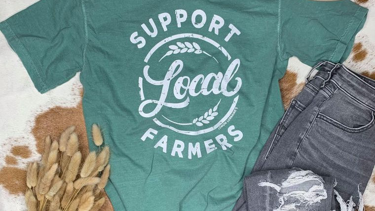 SUPPORT LOCAL FARMERS Graphic Tee
