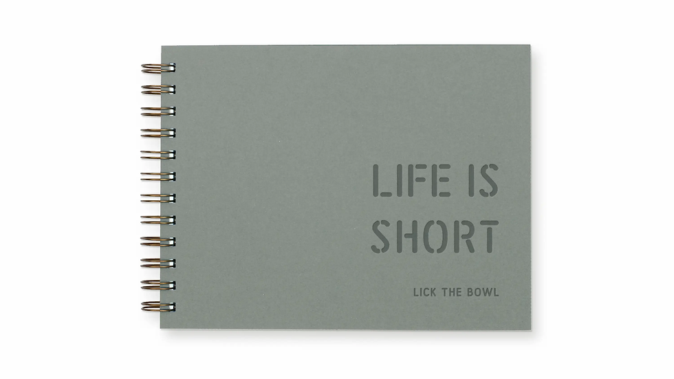 Life is Short Meal Planner