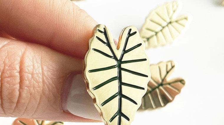 Alocasia Leaf Lapel Pin
