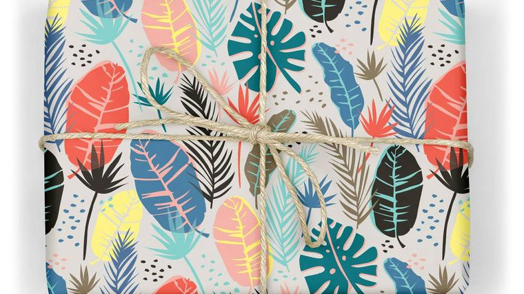 Fronds Wrapping Paper Sheet