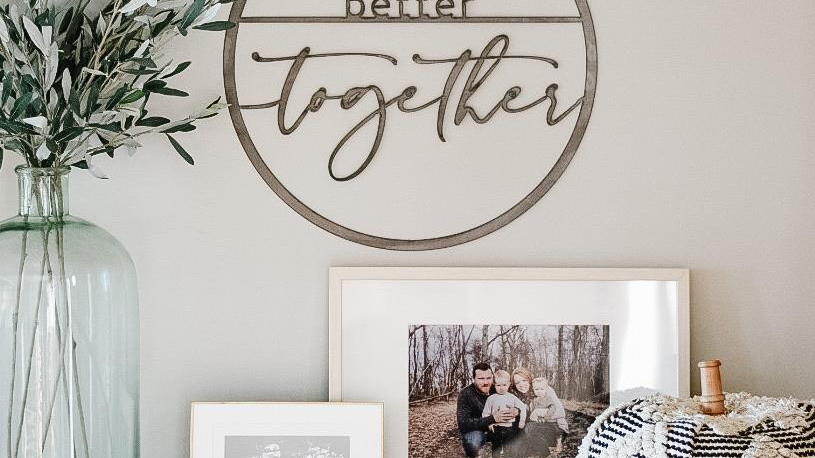 Better Together Circle Wall Decor
