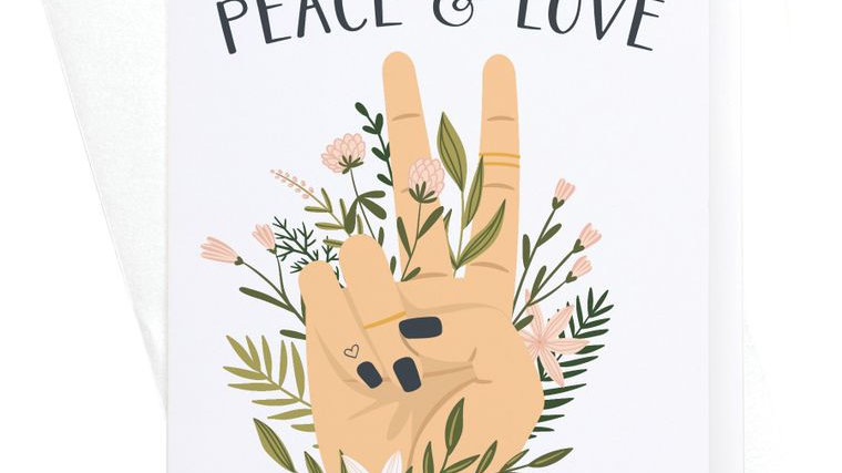 Sending You Peace & Love Greeting Card