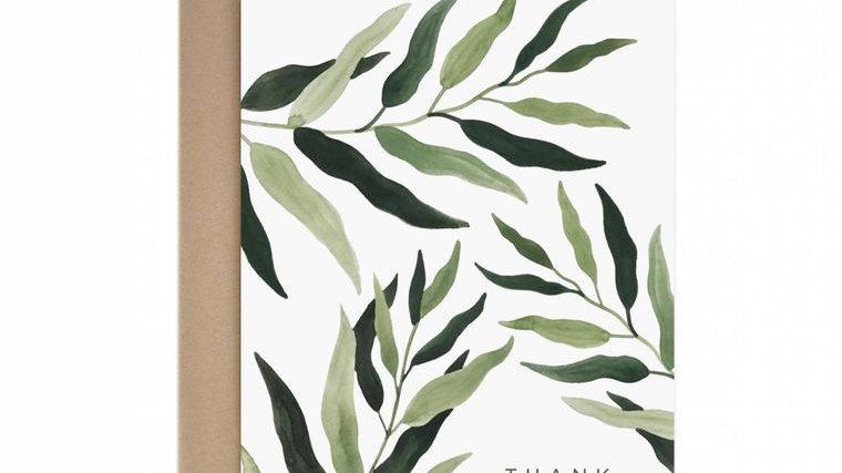 Eucalyptus Thank You Greeting Card