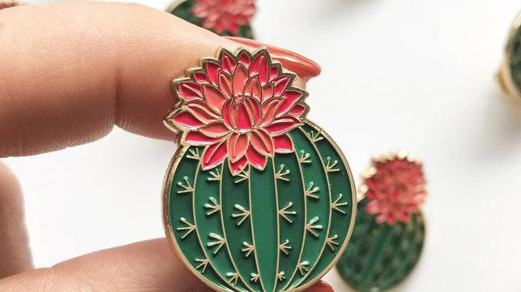 Blooming Cactus Lapel Pin