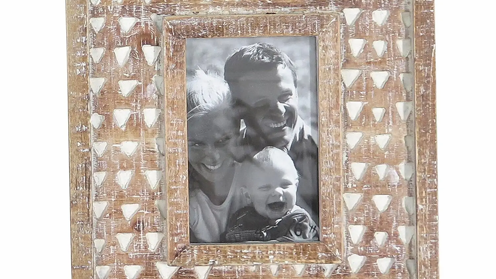 4'' x 6'' Carved Photo Frame