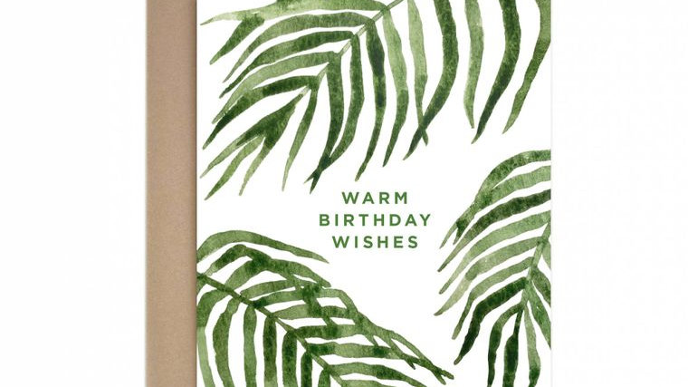 Warm Birthday Wishes Greeting Card