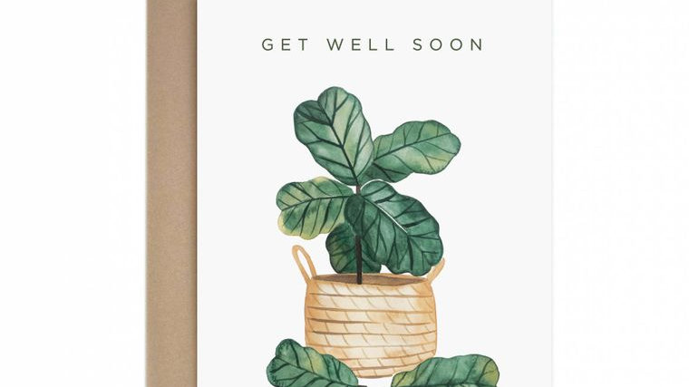 Get Well Soon Fiddle Leaf Fig Greeting Card