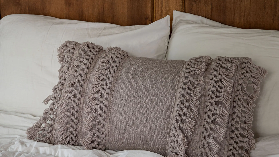 14X22 Hand Woven Grace Pillow Gray