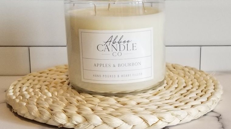 Apples & Bourbon 3 Wick Soy Candle