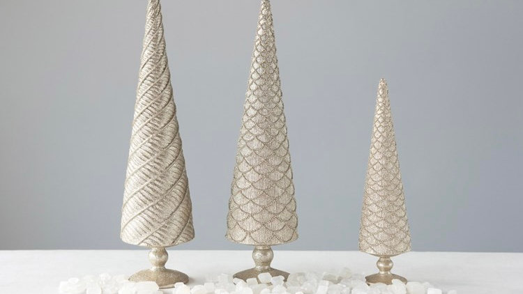Champagne Embossed Tree