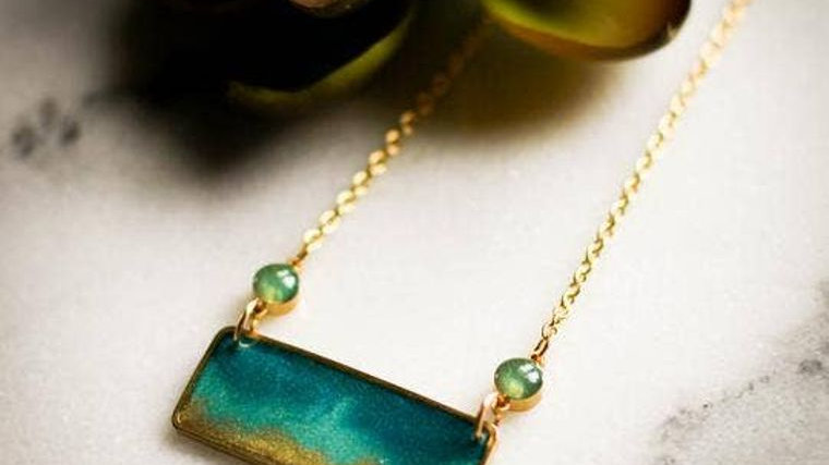 Coastal Brass Necklace