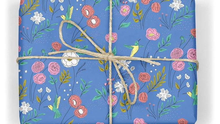 Hummingbirds Wrapping Paper Sheet