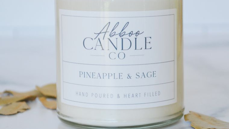 Pineapple & Sage Soy Candle