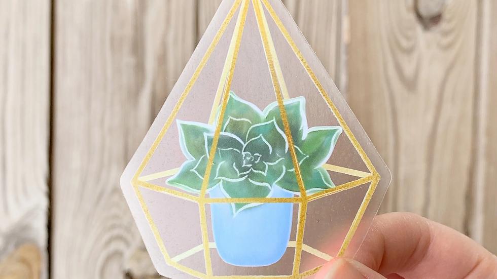 Succulent Terrarium Sticker