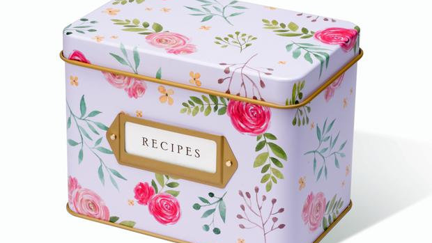 Pink Peony Recipe Tin