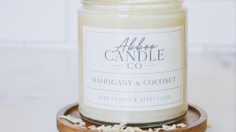 Mahogany & Coconut Soy Candle