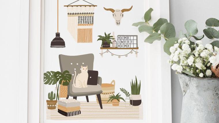 Boho Home Art Print