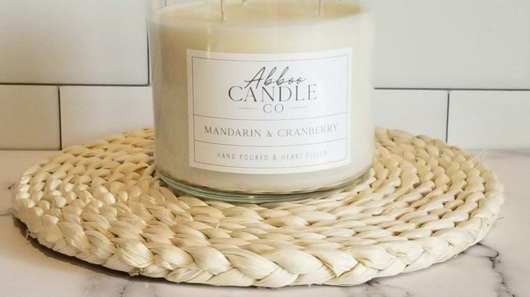 Mandarin & Cranberry 3 Wick Soy Candle