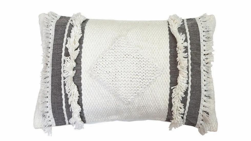 """14"""" x 22"""" Hand Woven Milo Pillow"""
