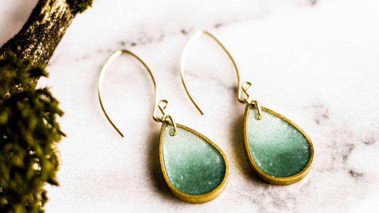 Seafoam Raindrop Earrings
