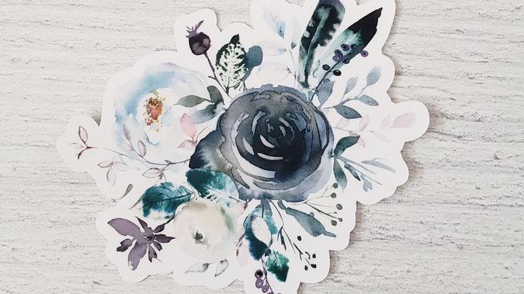 Blue Boho Bouquet Sticker