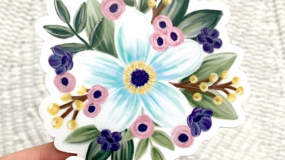 Floral Daisy Sticker