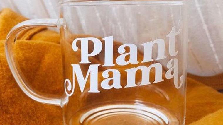 Plant Mama Glass Mug