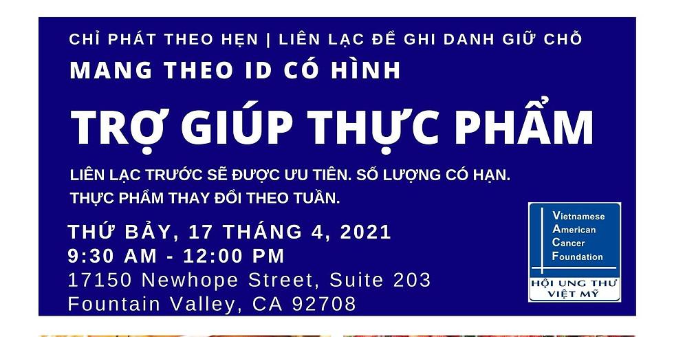 Trợ Giúp Thực Phẩm - Food Distribution   Sat, April 17