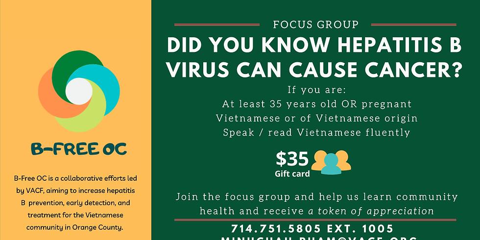Virtual B-Free OC Focus Group
