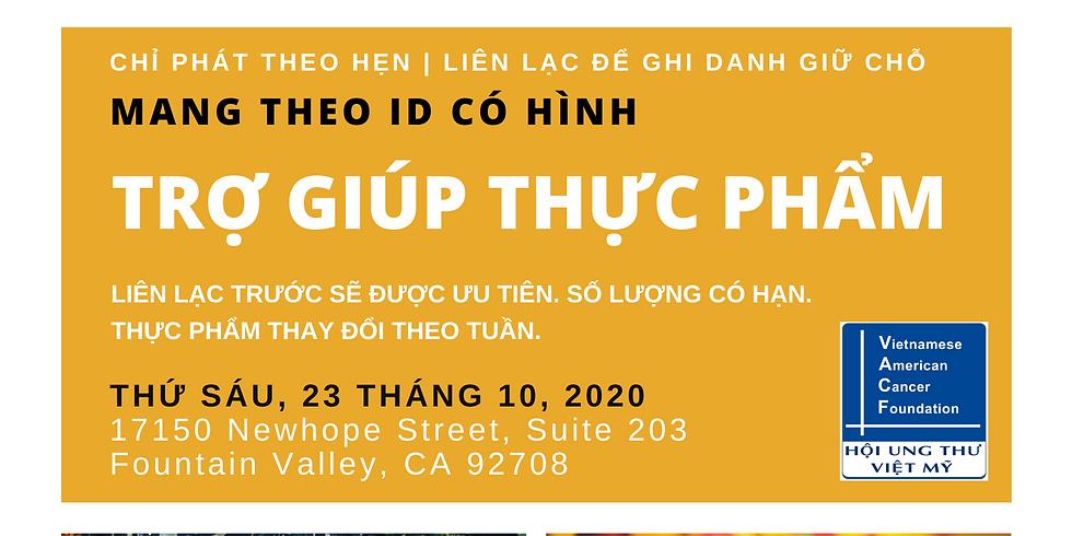 Trợ Giúp Thực Phẩm - Food Distribution   Saturday, Oct 24