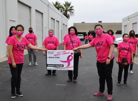 Hội Ung Thư Việt Mỹ tổ chức đi bộ hỗ trợ bệnh nhân ung thư vú