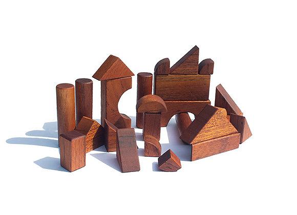 Natural Wood Building Blocks For Children