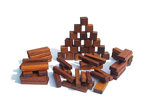 Natural Wood Toy Building Blocks