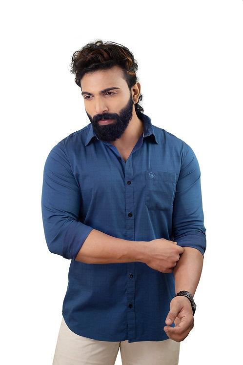 Hades Aegean Blue Jacquard Shirt