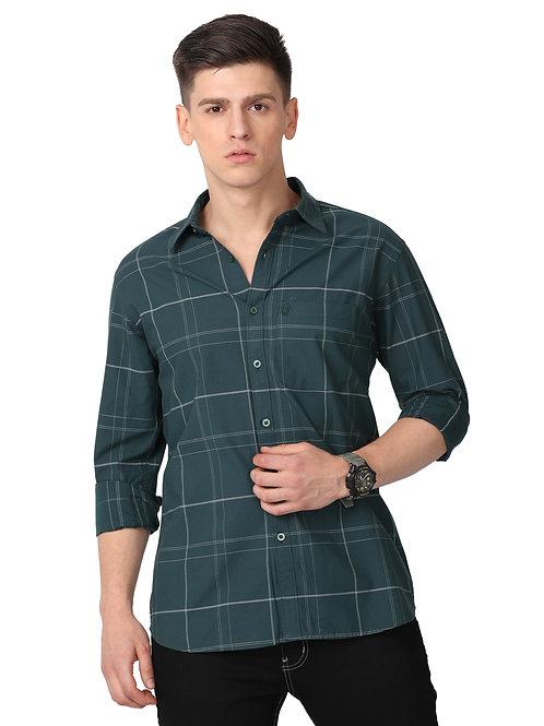 Hades Sacremento Green Tartan Plaid Shirt