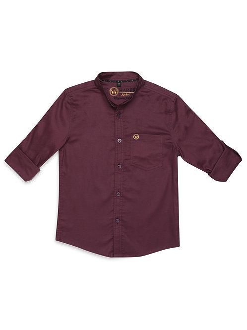 Junior Royal Oxford Wine Shirt