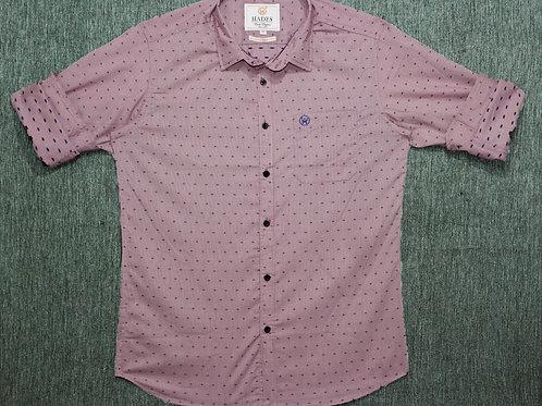 Hades Semi Casual Flamingo Striped Dobby Shirt