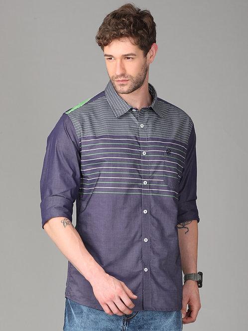 Hades Engineered Stripes Denim Shirt