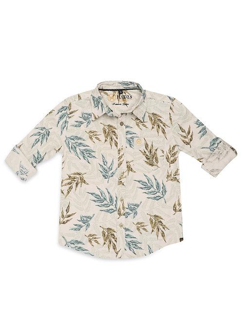 Junior Sprig Pattern Printed Shirt