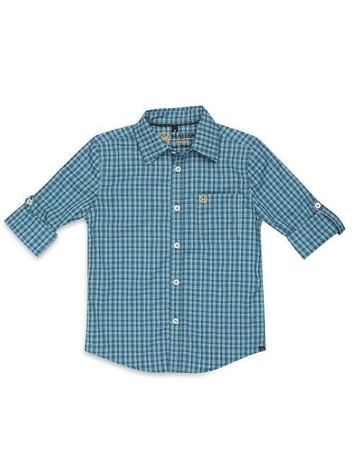 Junior Aquamarine Plaid shirt