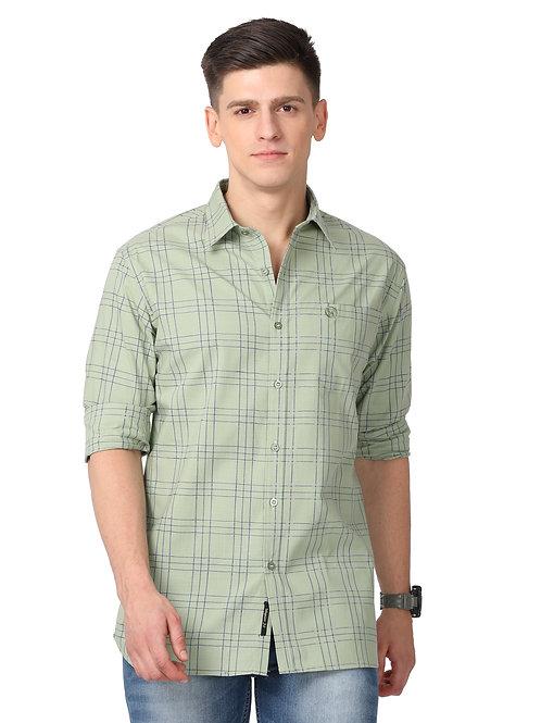 Hades Sage Green Tartan Plaid Shirt