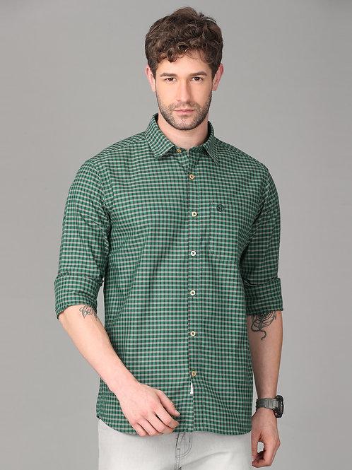 Hades Emerald Green Shepherd's Check Shirt