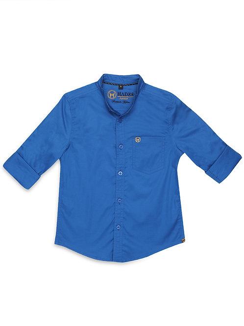 Junior Azure Blue Poplin Shirt
