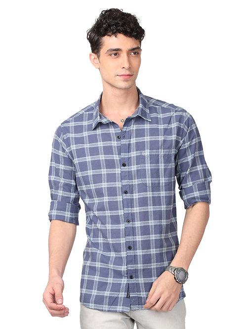 Hades Yale Blue Tartan Plaid Shirt