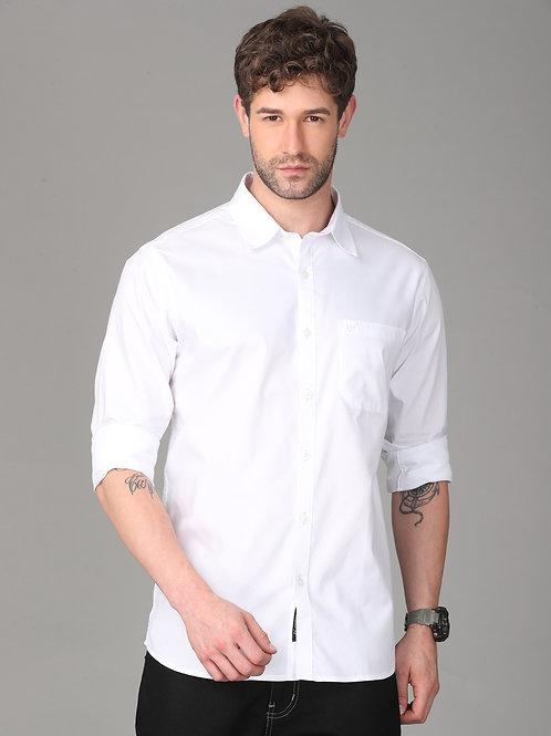 Hades Pure White Twill Shirt