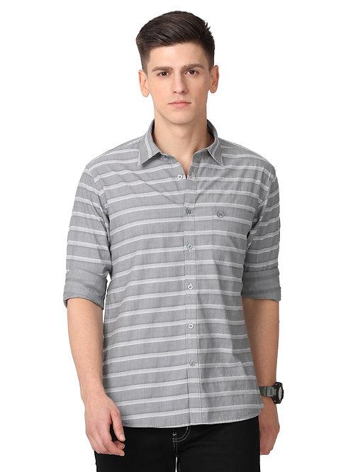 Hades Shark Grey Breton Striped Shirt