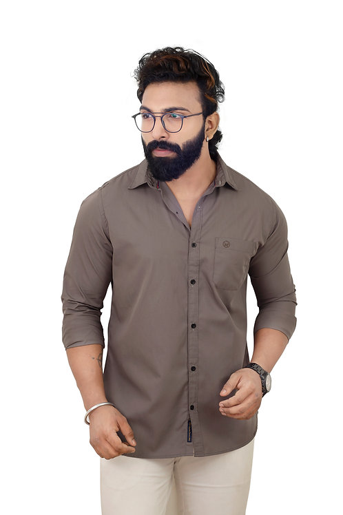 Hades Poplin Light Umber Shirt