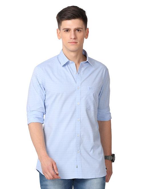 Hades Maya Blue Pinstriped Shirt